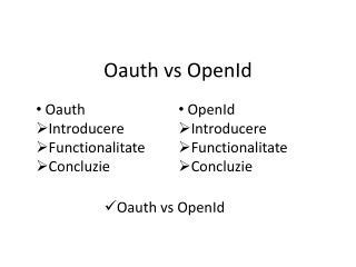 Oauth vs OpenId