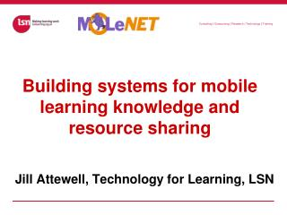 Building systems for mobile learning knowledge and resource sharing