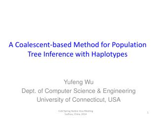 A Coalescent-based Method for Population Tree Inference with Haplotypes