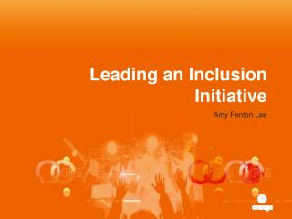 Leading an Inclusion Initiative
