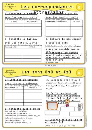 Les correspondances lettres/sons