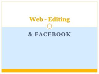 Web - Editing