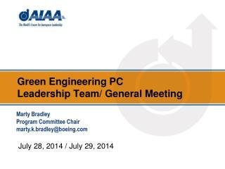 Green Engineering  PC  Leadership Team/ General Meeting