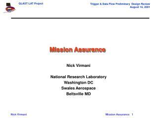 Mission Assurance