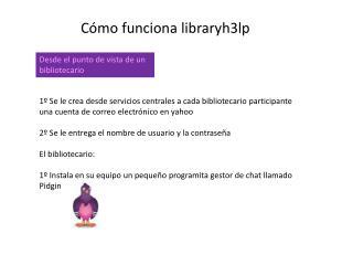 Cómo funciona libraryh3lp