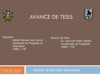 AVANCE DE TESIS