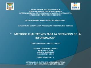 SECRETARIA DE EDUCACION P Ú BLICA SUBSECRETARIA DE EDUCACI Ó N SUPERIOR