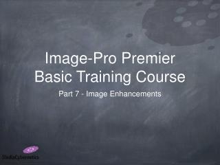 Image-Pro Premier Basic Training Course