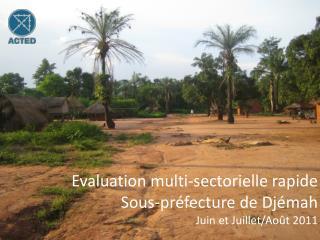 Evaluation multi-sectorielle rapide Sous-pr�fecture de Dj�mah Juin et Juillet/Ao�t 2011