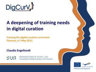 A deepening of training needs  in digital curation