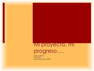 Mi  proyecto , mi  progreso ….