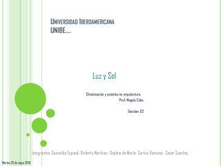 Universidad Iberoamericana  UNIBE….