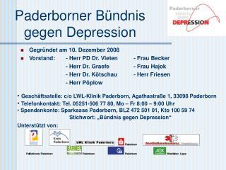 Paderborner Bündnis gegen Depression