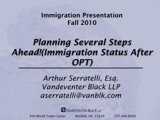 Immigration Presentation Fall 2010