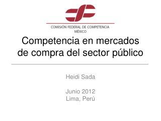 Competencia en mercados  de compra del sector público