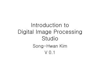 Introduction to Digital Image Processing Studio