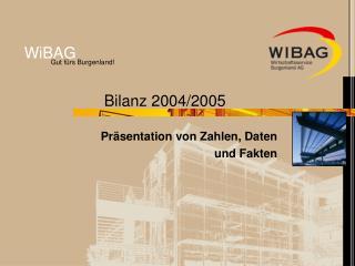 Bilanz 2004/2005