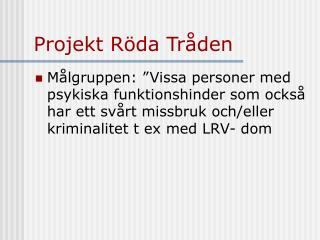 Projekt Röda Tråden