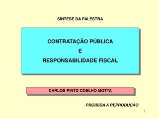 CONTRATA��O P�BLICA  E  RESPONSABILIDADE FISCAL