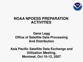 NOAA NPOESS PREPARATION ACTIVITIES