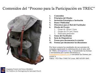 Contenidos del �Proceso para la Participaci�n en TREC�