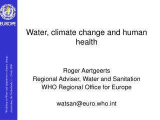 Water, climate change and human health