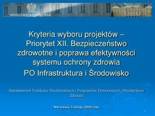 Działanie 12.1 Rozwój systemu ratownictwa medycznego