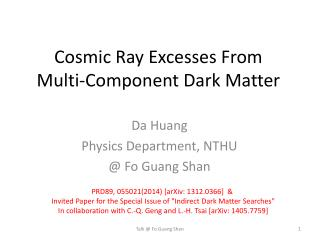 Cosmic Ray Excesses From  Multi-Component Dark Matter