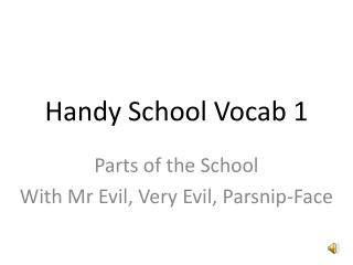 Handy School Vocab 1