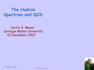 The Hadron  Spectrum and QCD