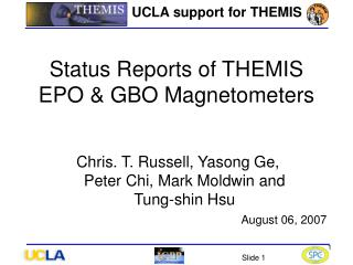UCLA support for THEMIS