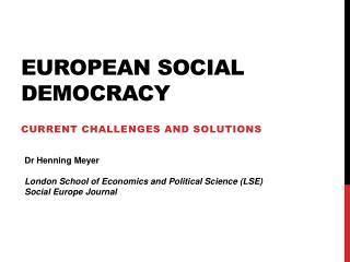 European Social democracy