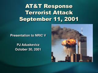 AT&T Response Terrorist Attack September 11, 2001