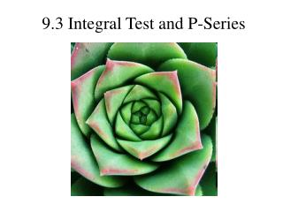 9.3 Integral Test and P-Series