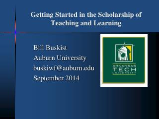 Getting Started in the Scholarship of Teaching and Learning