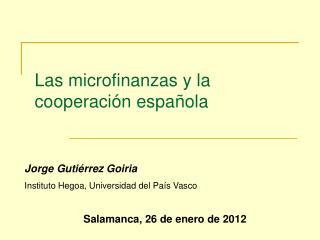 Las microfinanzas y la cooperación española