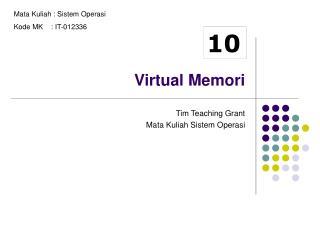 Virtual Memori