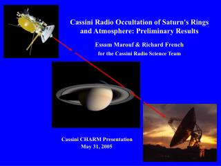 Cassini Radio Occultation of Saturn's Rings and Atmosphere: Preliminary Results