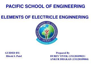 PACIFIC SCHOOL OF ENGINEERING