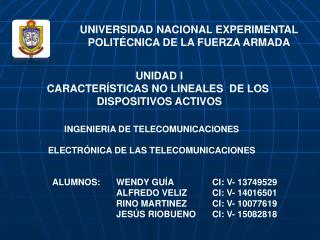 UNIVERSIDAD  NACIONAL EXPERIMENTAL POLITÉCNICA DE LA FUERZA ARMADA