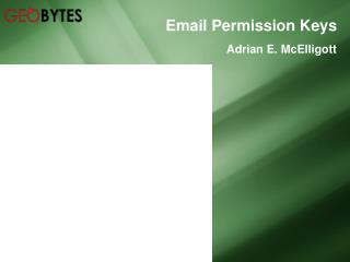 Email Permission Keys