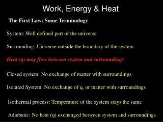 Work, Energy & Heat