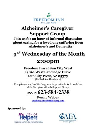Alzheimer�s Caregiver          Support Group