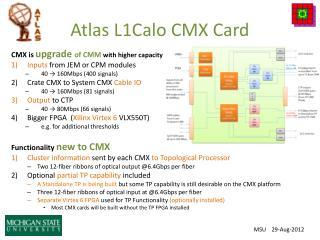 Atlas L1Calo CMX Card