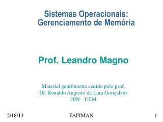 Sistemas Operacionais: Gerenciamento de Memória