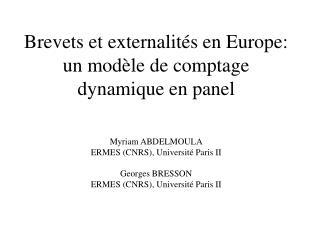 1- Introduction:  Les externalit�s de R&D