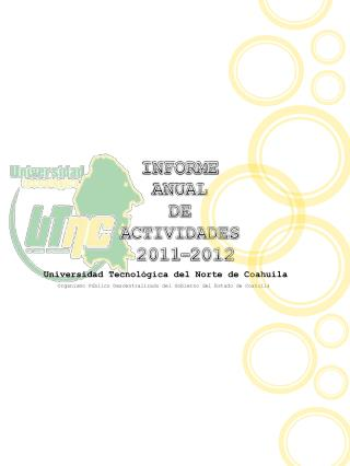 INFORME  ANUAL  DE   ACTIVIDADES  2011-2012