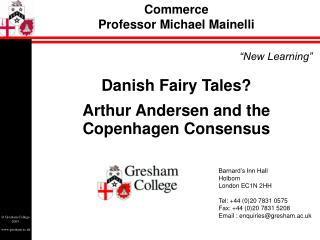 Commerce Professor Michael Mainelli