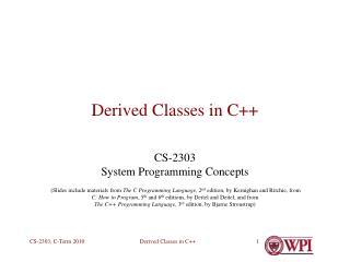 Derived Classes in C