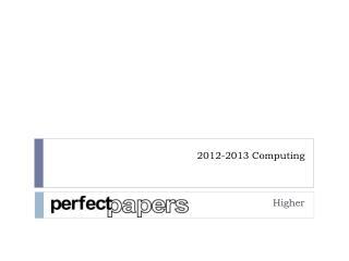 2012-2013 Computing